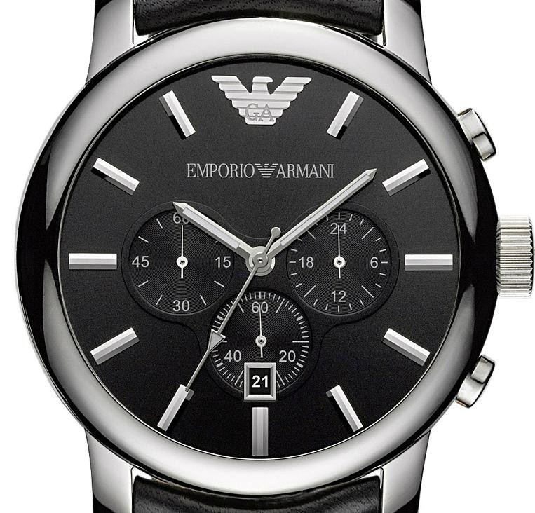 AR0431 Armani Horloge €229 | zwart zilver | sale