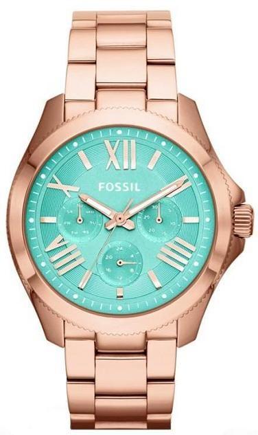 Fossil AM4540 | 2014 Horloge dames roségoud turquoise